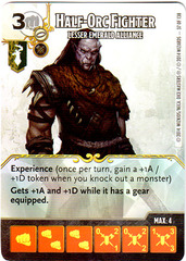 Half-Orc Fighter - Lesser Emerald Alliance (Die & Card Combo)