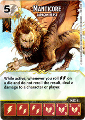 Manticore - Paragon Beast (Die & Card Combo)
