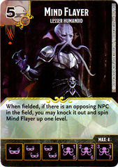 Mind Flayer - Lesser Humanoid (Die & Card Combo)
