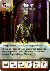Mummy - Greater Undead (Die & Card Combo)