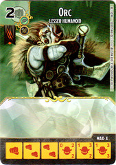 Orc - Lesser Humanoid (Die & Card Combo)