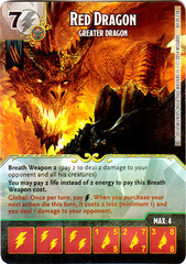 Red Dragon - Greater Dragon (Die & Card Combo)