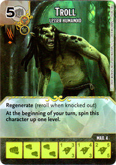 Troll - Lesser Humanoid (Die & Card Combo)