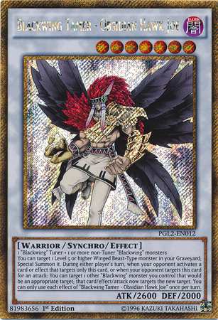 Blackwing Tamer - Obsidian Hawk Joe - PGL2-EN012 - Gold Secret Rare - 1st Edition