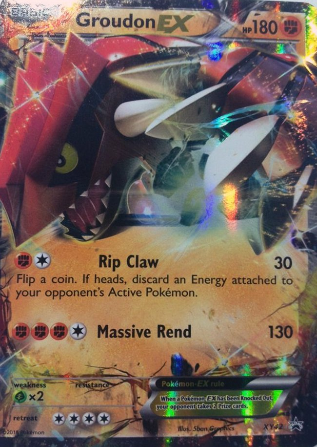Groudon-EX - XY42 - Legends of Hoenn Collectors Tin Promo