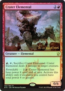 Crater Elemental - Foil - Prerelease Promo