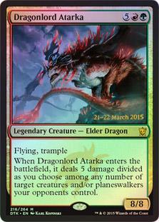 Dragonlord Atarka - Foil - Prerelease Promo