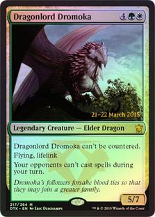 Dragonlord Dromoka - Foil - Prerelease Promo