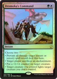 Dromokas Command (Dragons of Tarkir Prerelease Foil)