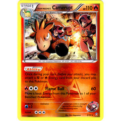 Team Magma's Camerupt - 2/34 - Holo Rare - Reverse Holo on Channel Fireball
