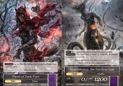 Fiend of Dark Pyre // Nyarlathotep, the Faceless God MPR-080 R on Channel Fireball