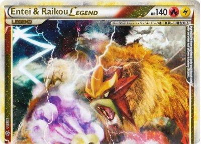Entei and Raikou LEGEND (Top) - 90/95 - Rare Holo Legend