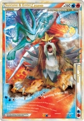 Suicune and Entei LEGEND (Both Halves) - 94+95/95 - Rare Holo Legend
