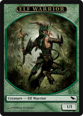 Elf Warrior Token - Green