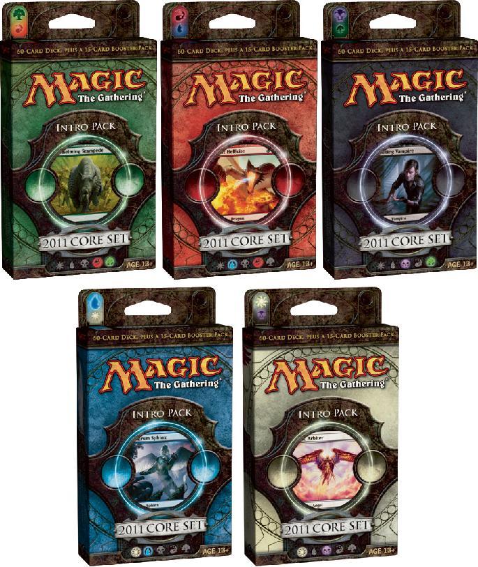 All 5 Magic 2011 (M11) Intro Packs