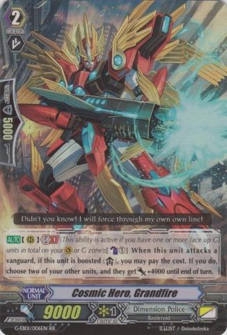 Cosmic Hero, Grandfire - G-EB01/006EN - RR