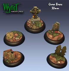 Wyrd Base Inserts - Graveyard - 30mm