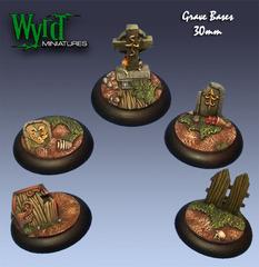 Wyrd Base Inserts - Graveyard - 30mm