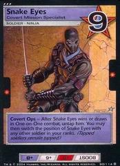 Snake Eyes, Covert Mission Specialist