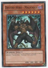 Destiny Hero - Malicious - GLD3-EN009 - Common - Limited Edition