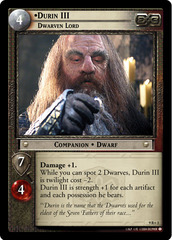 Durin III, Dwarven Lord - 9R+3