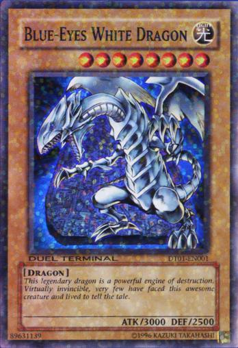 Blue-Eyes White Dragon - DT01-EN001 - Super Rare - Duel Terminal