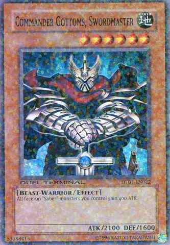 Commander Gottoms, Swordmaster - DT01-EN022 - Super Parallel Rare - Duel Terminal