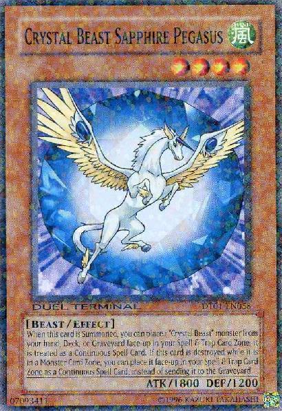 Crystal Beast Sapphire Pegasus - DT01-EN058 - Common - Duel Terminal