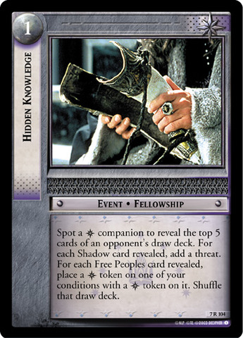 Lord Of The Rings Foil CCG Card RotK 7.C30 Uncertain Paths