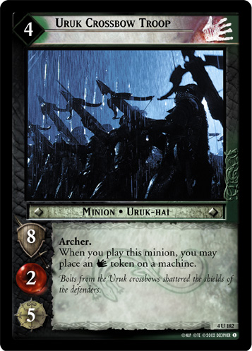 Uruk Infantry The Hunters Lord of the Rings TCG Decipher LOTR Ungraded