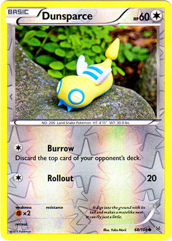 Dunsparce - 68/108 - Common - Reverse Holo