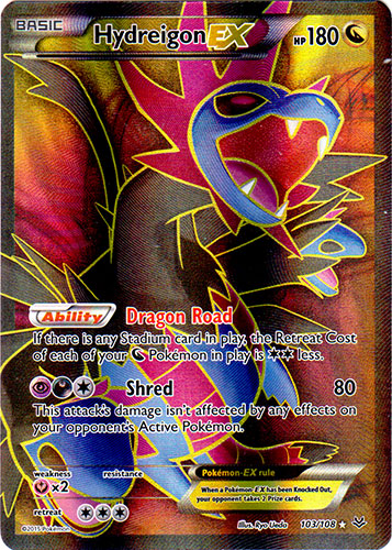Hydreigon-EX - 103/108 - Full Art Ultra Rare
