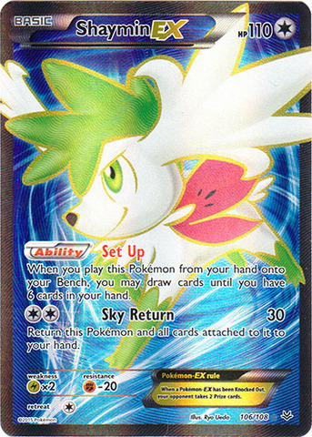 Shaymin Ex 106108 Full Art Ultra Rare Pokemon X Y Series