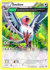 Swellow - 72/108 - Holo Rare