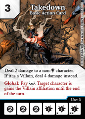Basic Action Card: Takedown - Marvel Dice Masters Promo