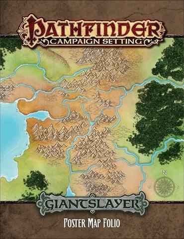 Pathfinder Campaign Setting Giantslayer Poster Map Folio on nirmathas map, darklands map, crypt of the everflame map, rust island map, tian xia map, rpg map, greyhawk map, mystara map, zakhara map, pathfinder map, toril map, magnimar map, elsir vale map, absalom map, inner sea map, ustalav map, varisia map, cerilia map, dragonlance world map, river kingdoms map,
