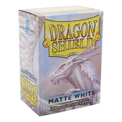 Dragon Shield - Matte White 100 Count Standard Sleeves