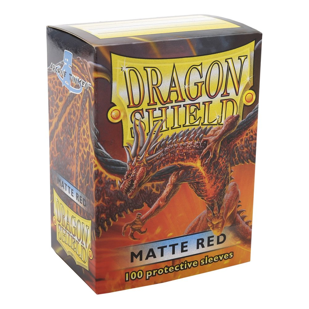 Dragon Shield Box of 100 in Matte Red