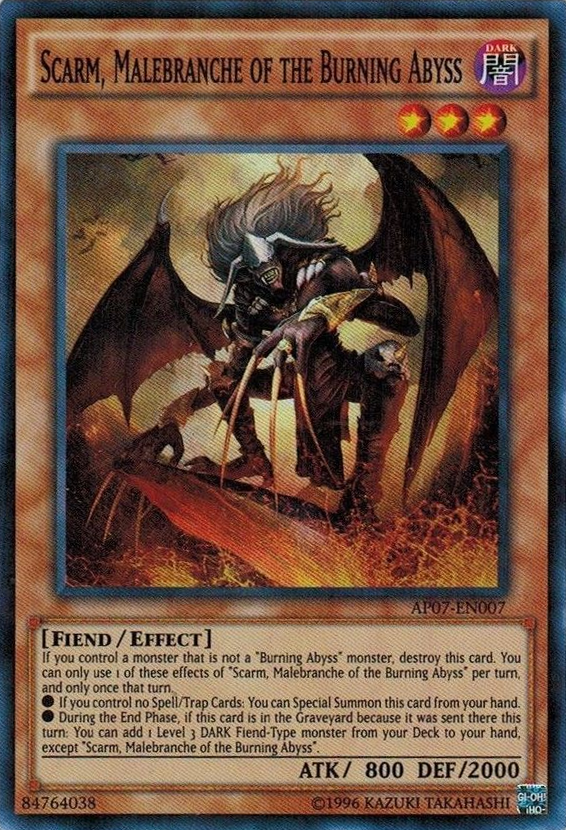 Scarm, Malebranche of the Burning Abyss - AP07-EN007 - Super Rare - Unlimited Edition