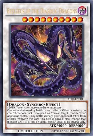 Beelzeus of the Diabolic Dragons - YF08-EN001 - Ultra Rare - Limited Edition