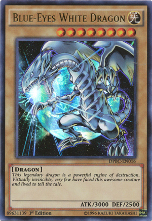 Blue-Eyes White Dragon - DPBC-EN016 - Ultra Rare - 1st Edition