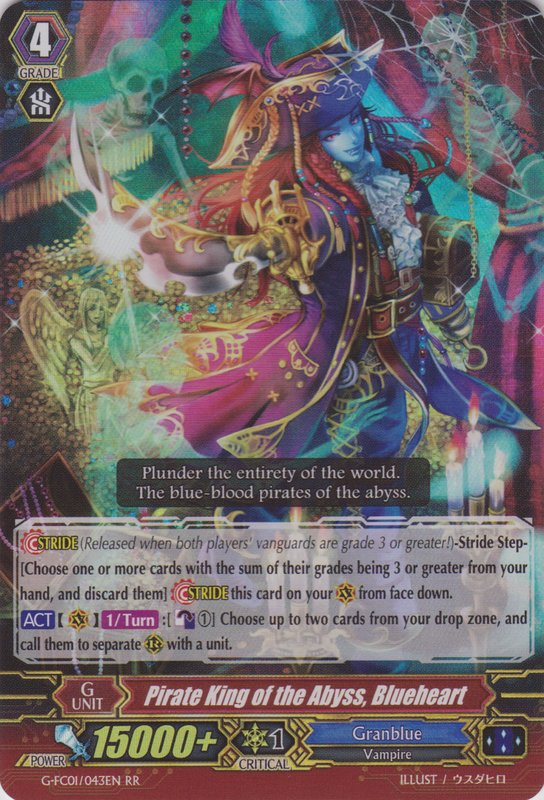Pirate King of the Abyss, Blueheart - G-FC01/043EN - RR