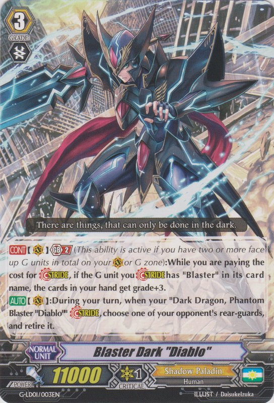 Blaster Dark Diablo - G-LD01/003EN - TD