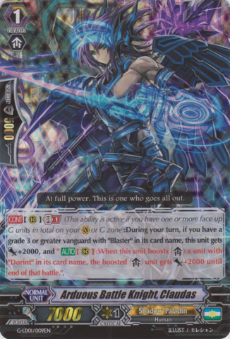 Arduous Battle Knight, Claudas - G-LD01/009EN - RRR