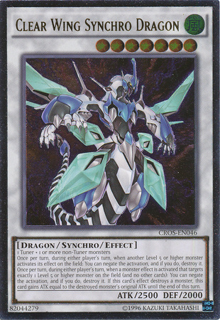 Clear Wing Synchro Dragon - CROS-EN046 - Ultimate Rare - Unlimited Edition