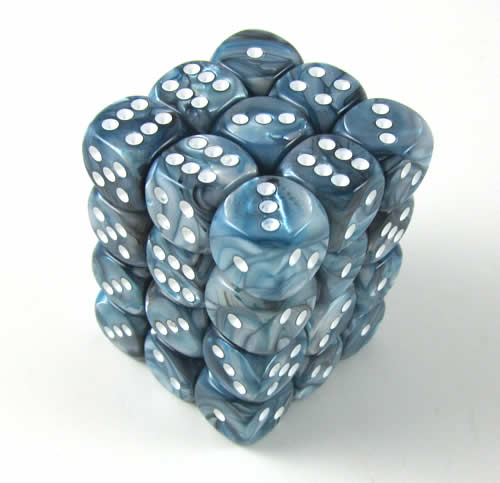 CHX27890 State Lustrous Dice with White Pips D6 12mm