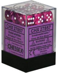 12mm D6 Dice Block: Festive - Violet w/White - CHX27857