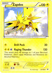 Zapdos - 23/108 - Cracked Ice Holo Storm Rider Theme Deck Exclusive