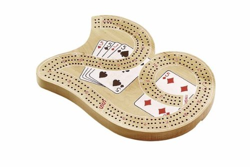 29 Large Cribbage Board with 3 Tracks