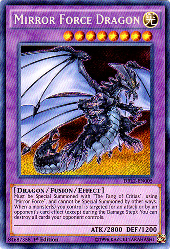 Mirror Force Dragon - DRL2-EN005 - Secret Rare - 1st Edition